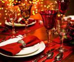 Праздничное украшение новогоднего стола